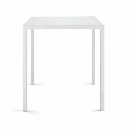 Firkantet udendørs bord lavet i Italien - Benedict