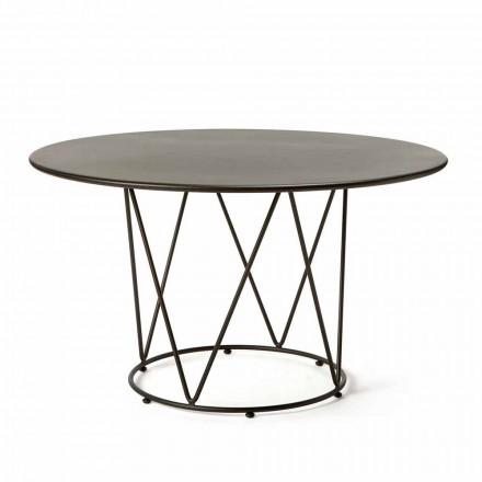 Rundt moderne udendørs bord i malet metal fremstillet i Italien - Ibra