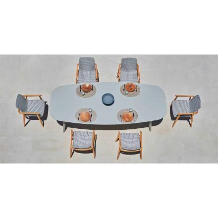 Varaschin Ellisse design udendørs bord i farvet aluminium