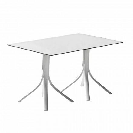 Luksus havebord i aluminium og hvid Hpl eller Gunmetal - Filomena