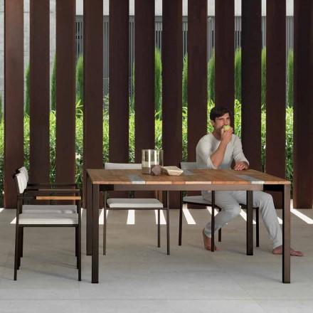 Casilda Talenti træ og rustfrit stål havebord 150x150 cm