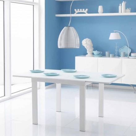 udvides spisebord med glasplade Teo