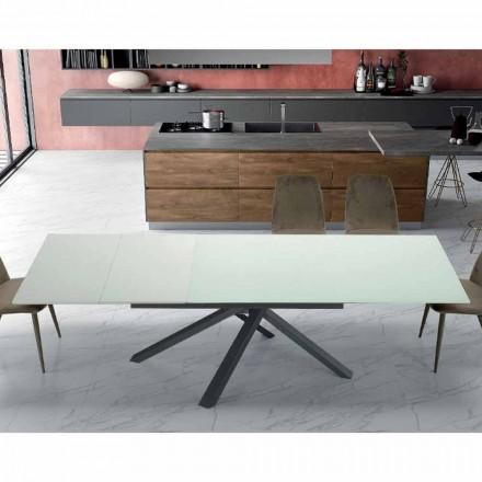 Udvideligt spisebord op til 260 cm i moderne designglas - Gabicce