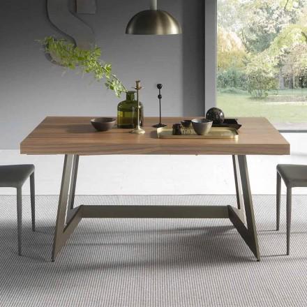 Udtrækkeligt spisebord Op til 160 cm i træ fremstillet i Italien - Eugenia