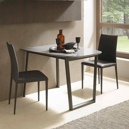 Udtrækkeligt spisebord Op til 170 cm i keramik fremstillet i Italien - Tremiti