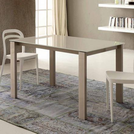 Udtrækkeligt spisebord Op til 204 cm i Made in Italy Crystal - Palladio