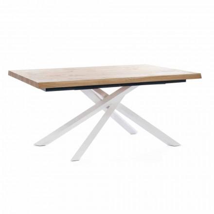 Udvideligt spisebord Op til 240 cm i træ lavet i Italien - Xino
