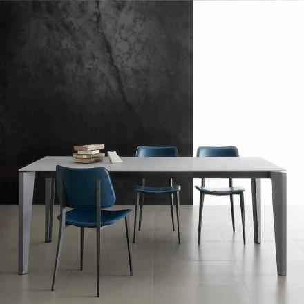 Udvideligt spisebord op til 290 cm i Made in Italy Crystal - Polonio