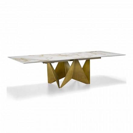 Luksusforlængeligt bord op til 294 cm i Made in Italy Marmor Stentøj - Makro