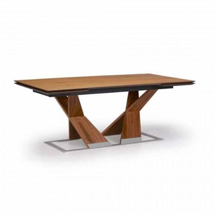 Udtrækkeligt spisebord Op til 294 cm i træ Made in Italy - Monique