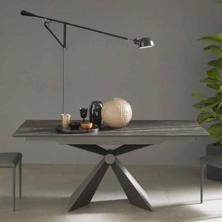 Udtrækkeligt spisebord op til 298 cm i keramik fremstillet i Italien - Anaconda
