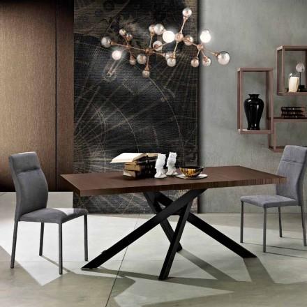 Udvideligt spisebord i melamin træ lavet i Italien, Dionigi