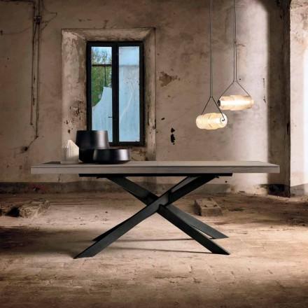 Udvideligt spisebord i egetræ L315cm lavet i Italy Oncino
