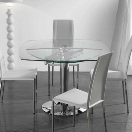 udvides spisebord i hærdet glas Bølge