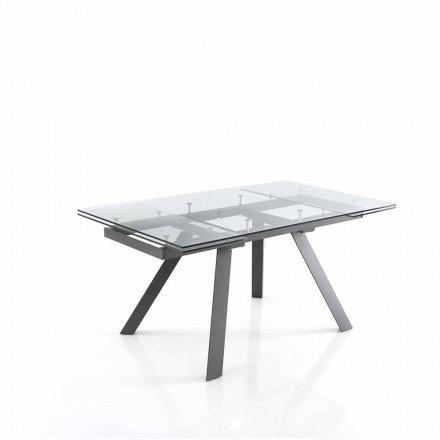 Spisebord, der kan udvides op til 240 cm i glas - Basilea