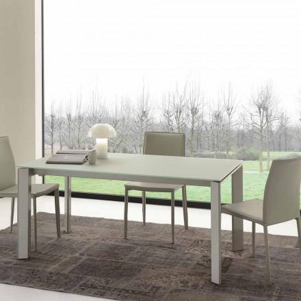 Udvideligt spisebord, hærdet glasplade - Faleria