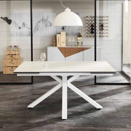 Spisning glas-keramiske udtræksbord, L.160 / 240xp.90 cm, Bacchus