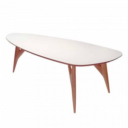 Spisebord, håndlavet, i HPL og massiv mahogni Fremstillet i Italien - Eg