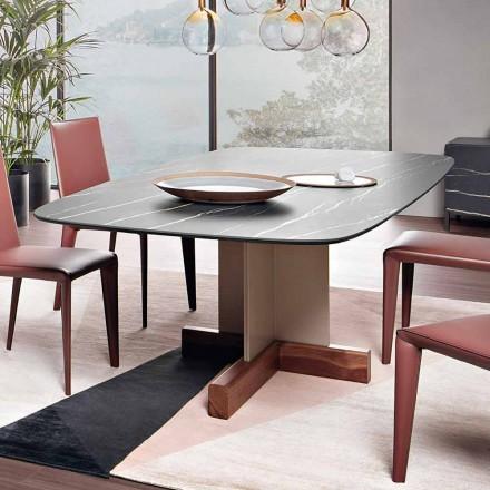 Spisebord med keramisk top fremstillet i Italien - Bonaldo krydsbord