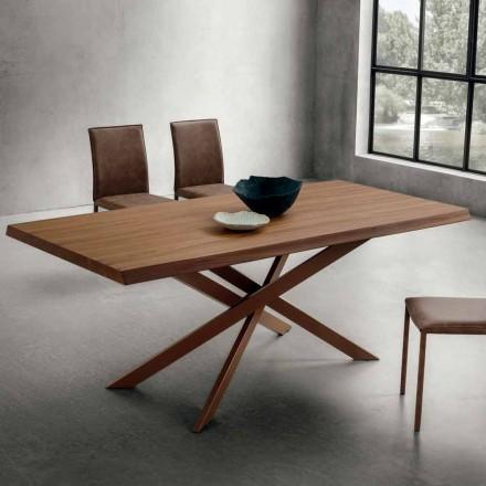 Spisebord med luksusbarket valnødtop Fremstillet i Italien - Carlino