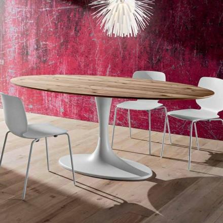 Spisebord med oval top i flerlags fremstillet i Italien - Brontolo
