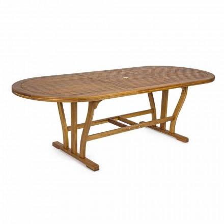 Udtrækkeligt udendørs spisebord Op til 240 cm i træ - Kaley