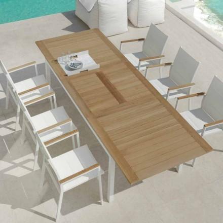 Udvideligt spisebord i teakræ Timmer