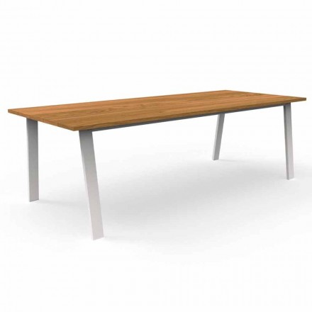Have spisebord i Iroko træ og aluminium - Sommerhus af Talenti