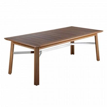 Have spisebord i naturligt eller sort træ, italiensk luksus - Suzana