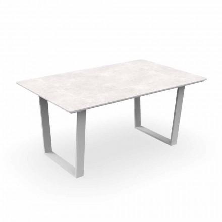 Spisebord af aluminium og Gres moderne have - Alabama Alu Talenti