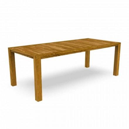 Moderne spisebord i haven i kastanjetræ - Ebi af Talenti