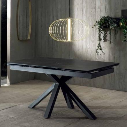 Udvideligt spisebord af design med keramisk top Op til 240 cm - Ultron