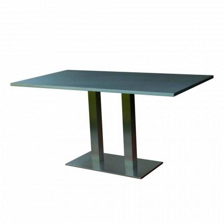 Design spisebord med lamineret sten top, 160x90cm, Newman
