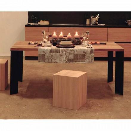 Design spisebord i naturlig valnød design, L200xP100cm, Yvonne