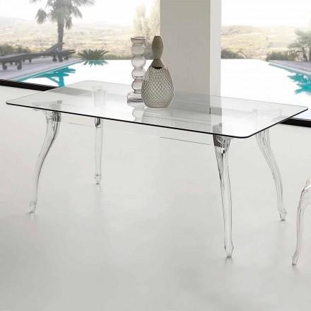 fra moderne design Spisebord med hærdet glasplade Jinny