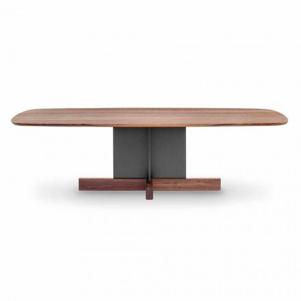Design spisebord med tværfod lavet i Italien - Bonaldo krydsbord