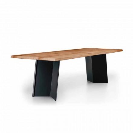 Design spisebord med top af knyttet eg Fremstillet i Italien - Simeone