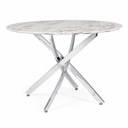 Design spisebord med rund top i Mdf Homemotion - Gregory