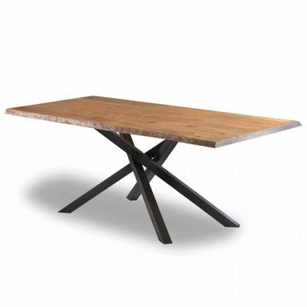 Design spisebord i træ med stålbund lavet i Italien - Licis