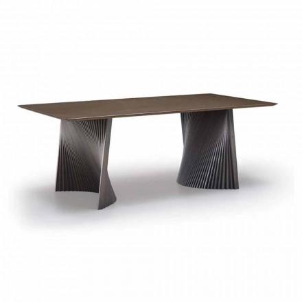 Spisebord af høj kvalitet i Gres og aske lavet i Italien - Charol