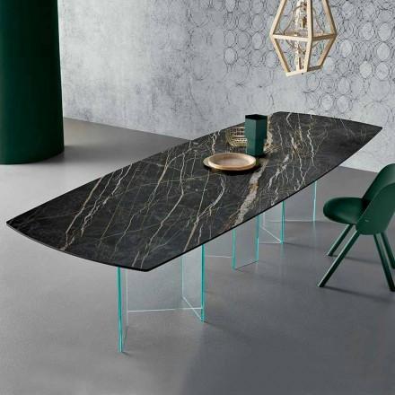 Keramisk spisebord og Extralight Glass Base fremstillet i Italien - Tilfældig