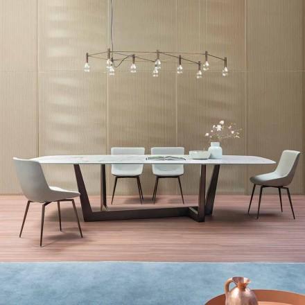 Bronze keramisk og metal spisebord fremstillet i Italien - Art