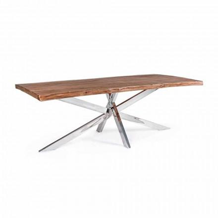 Homemotion Design Spisebord i træ og rustfrit stål - Kaily