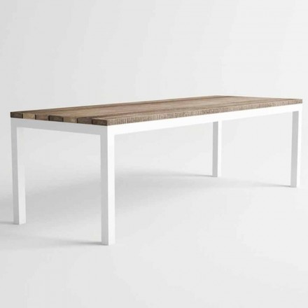 Moderne design udendørs træ og aluminium spisebord - Ganges