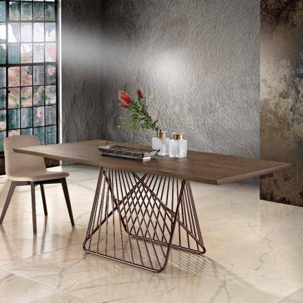 Moderne spisebord i massivt træ lavet i Italien