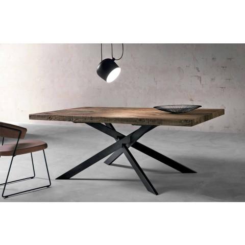 Ubrugte Design spisebord i massivt træ produceret i Italien Oncino HM-56