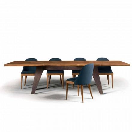Tabel træ spise bark naturlige valnød design, Antonio