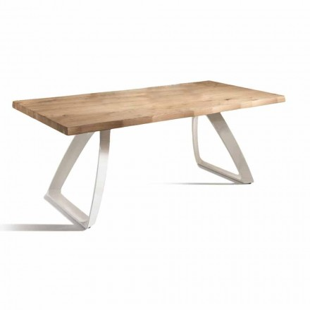 Spisebord i metal og fineret eg lavet i Italien - Aryssa