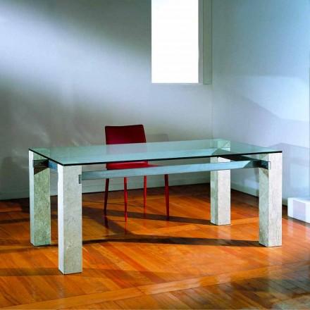 sten spisebord og glas moderne design EBEA