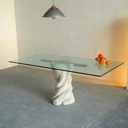sten spisebord og glas moderne design Uranus